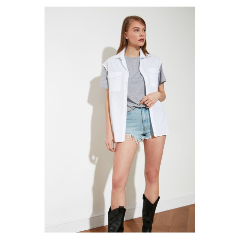 Trendyol White Sleeveless Shirt