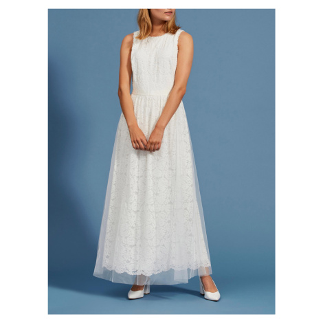 Vila bílé maxi šaty Carmela