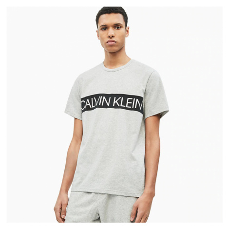 Šedé triko Statement 1981 Graphic Lounge Calvin Klein