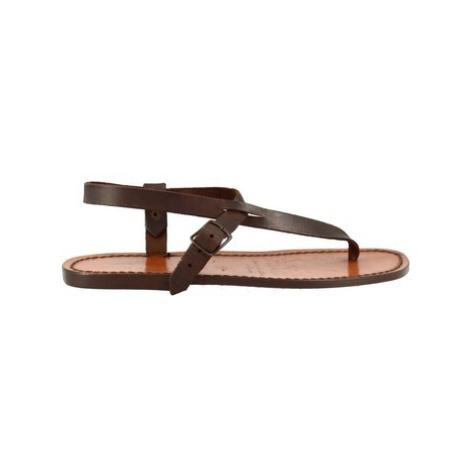 Leonardo Shoes 592 T. MORO Hnědá