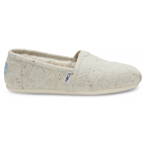 Cream Speckled Wool Shrlg Women's Toms