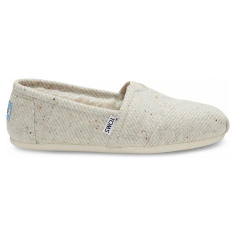 Cream Speckled Wool Shrlg Women's Toms
