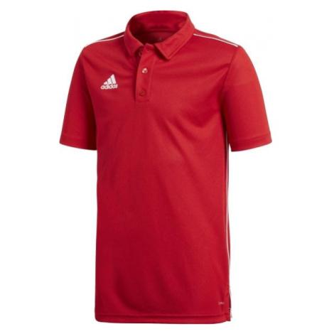 adidas CORE18 POLO Y červená - Chlapecké polo tričko
