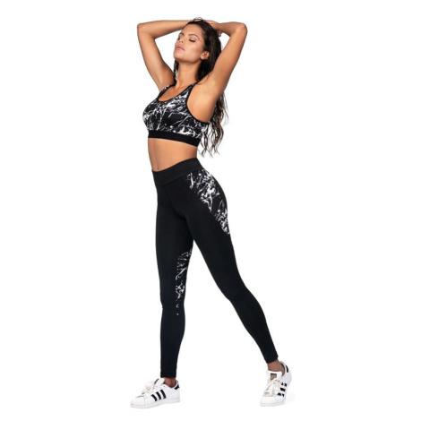 Fitness legíny Sonia černé mramor Lorin