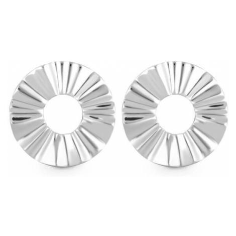 Rosefield náušnice Lois Liquid Waved Coin Earring Silver