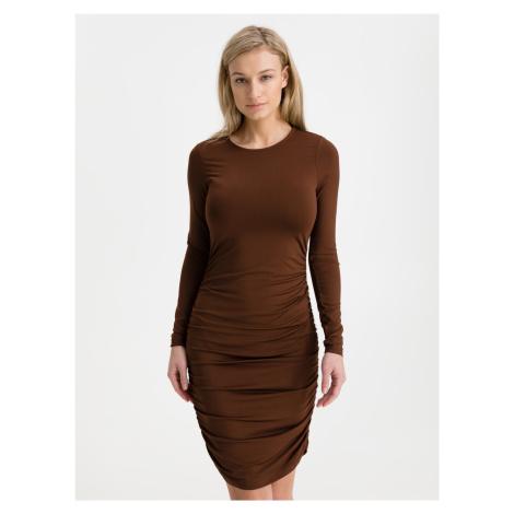 Next Šaty Vero Moda Hnědá
