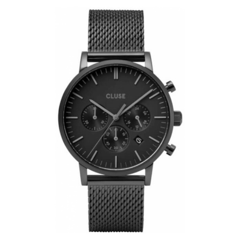 Cluse Aravis Chrono Mesh Full Black