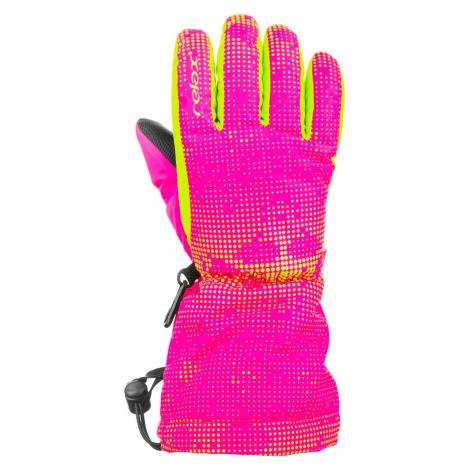 Dětské lyžařské rukavice Relax PUZZY - růžová