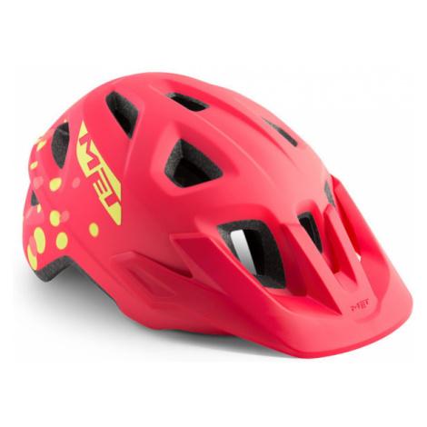 Juniorská cyklistická helma MET Eldar růžová
