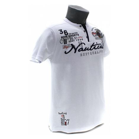Bílé pánské tričko s knoflíčky Kolton Tony