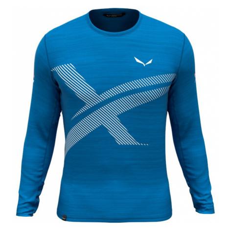 Pánské tričko Salewa X-Alps Tech Cloisonne Blue Melange