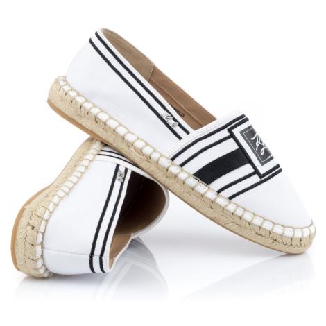 Espadrilky Karl Lagerfeld Kamini Signia Toe Slip On - Bílá