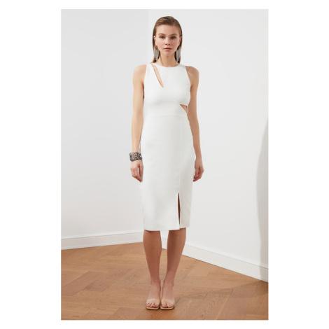 Trendyol Ekru Cleavage Detailed Dress