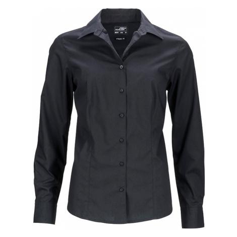 James & Nicholson Dámská košile s dlouhým rukávem JN641