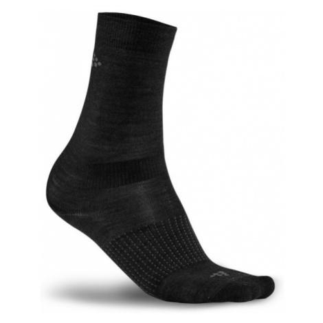 Ponožky CRAFT Wool Liner Warm 2-pack černá