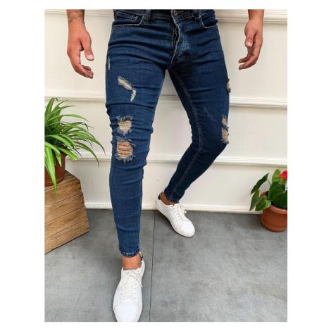 Tmavě modré pánské džíny UX2738 BASIC