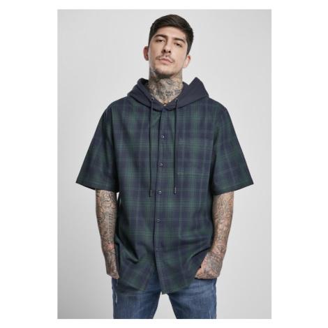 Hooded Short Sleeve Shirt - navy Urban Classics
