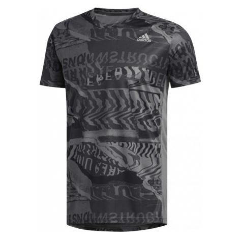 adidas OWN THE RUN TEE šedá - Pánské sportovní tričko