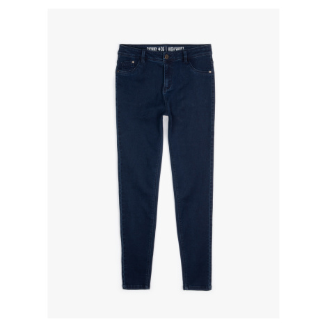 GATE Jednoduché džíny skinny s vysokým pasem