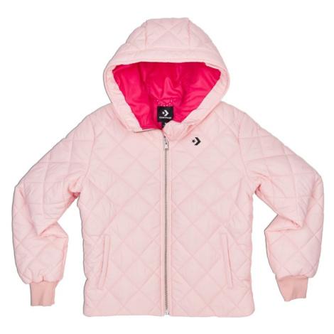 Dámská světle růžová bunda Quilted Poly Puffer Converse