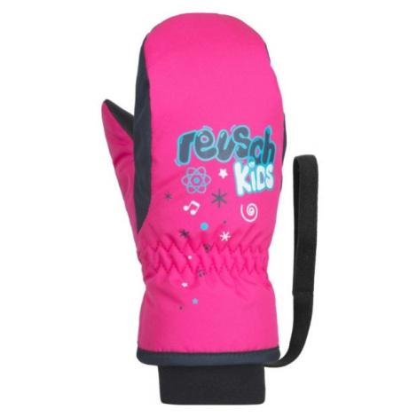 Reusch KIDS MITTEN růžová - Dětské lyžařské rukavice
