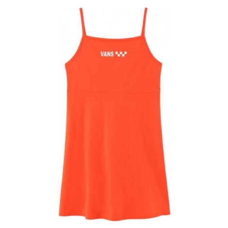 Vans Wm Meadowlark Skater Dress Grenadine oranžové VN0A4DPDYEP