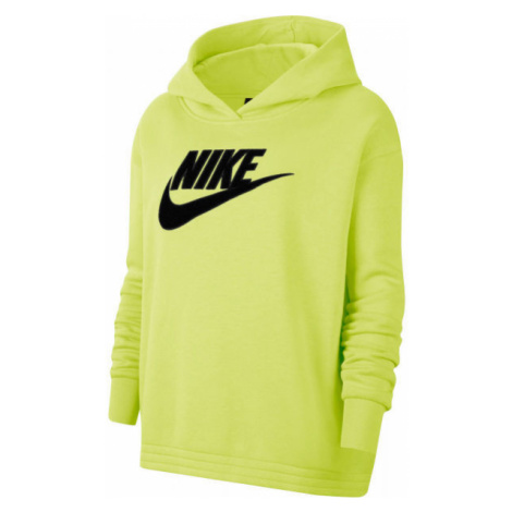 Nike NSW ICN CLSH FLC HOODIE PLUS W žlutá - Dámská mikina