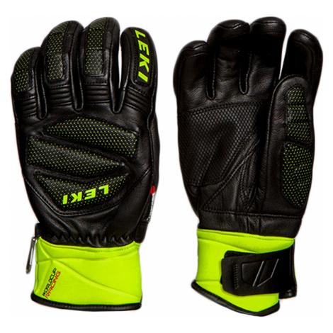 Lyžařské rukavice Leki WORLDCUP RACE DOWNHILL S zelená|černá