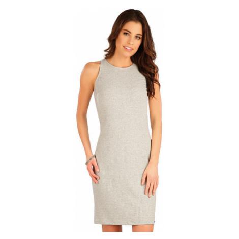 Dámské šaty bez rukávu Litex 5A047 | světle šedé melé