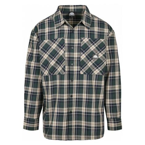 Southpole Check Flannel Shirt - green Urban Classics