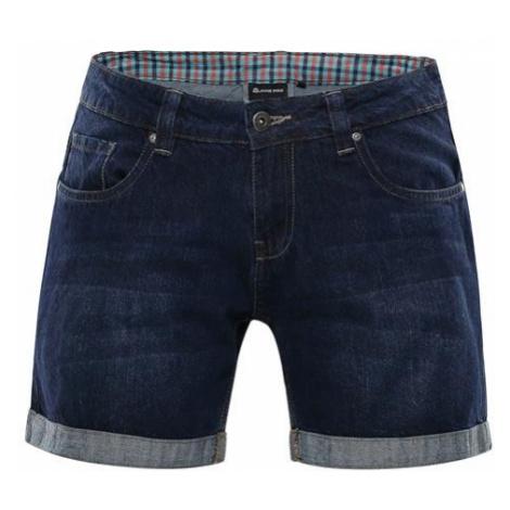 ALPINE PRO Geryga Modrá / Tyrkysově Modrá Dámské Šortky Jeans LPAN223691