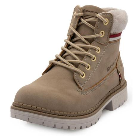 Fewro béžová dětská zimní obuv