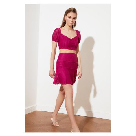 Trendyol Fuchsia Lace Skirt