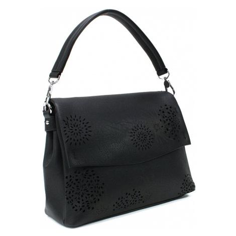 Černá dámská kabelka s výraznou klopnou Musette Mahel