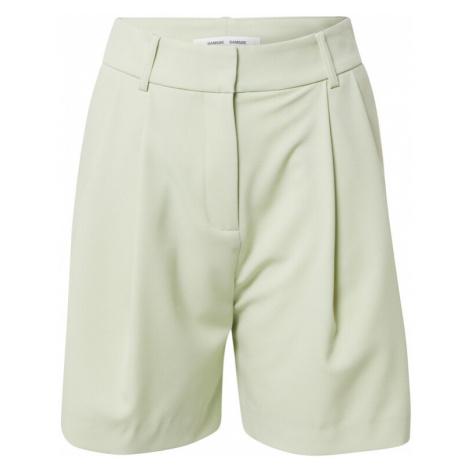 Samsoe Samsoe Kalhoty se sklady v pase světle zelená