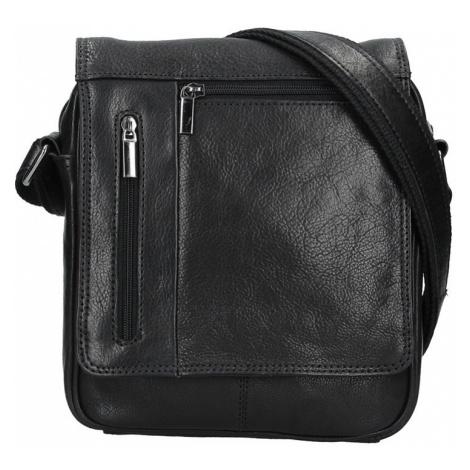 Pánská kožená taška přes rameno SendiDesign Morven - černá Sendi Design