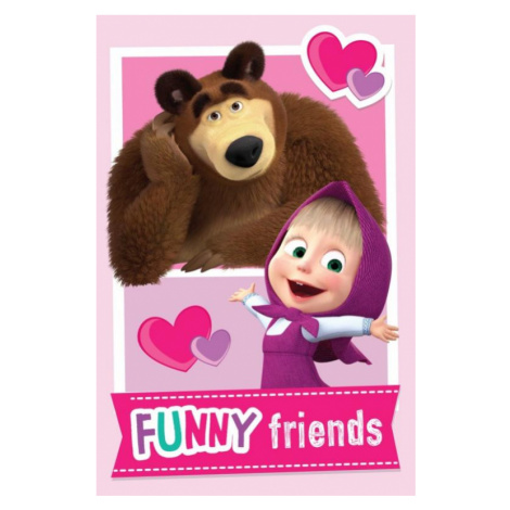 Dětská fleecová deka Máša a medvěd Friends | dle fotky