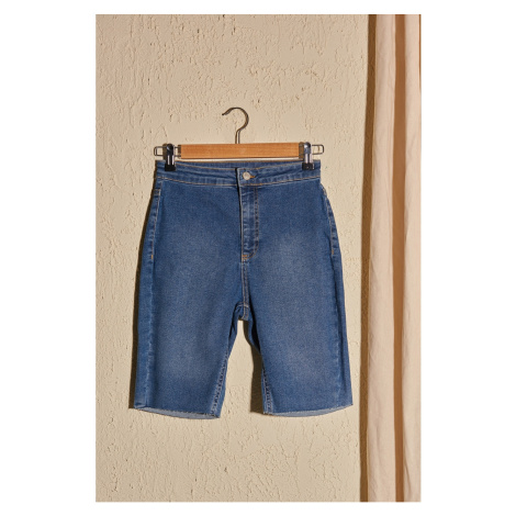 Trendyol Blue Jegging Denim Shorts