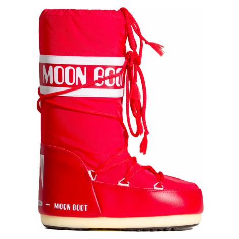 Sněhule Moon Boot NYLON červená
