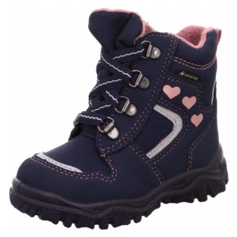 Dívčí zimní boty šněrovací HUSKY1 GTX, Superfit, 1-000046-8000, modrá