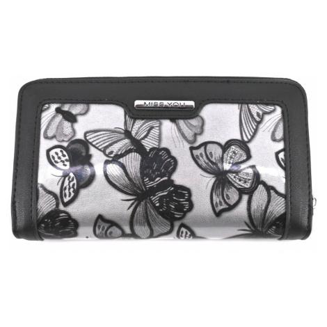 Dámská/dívčí peněženka pozdrového typu Miss - černá motýl Arteddy