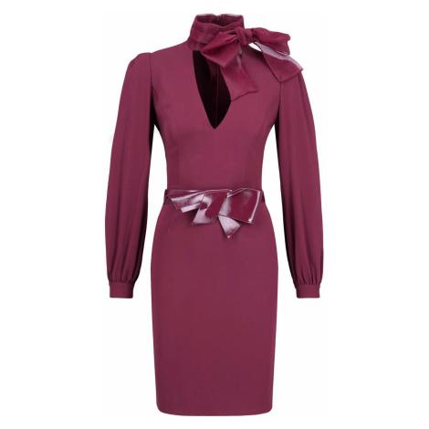 Vínové luxusní šaty ELISABETTA FRANCHI