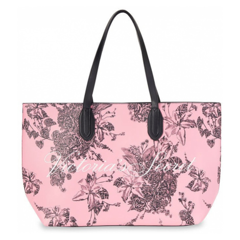 Victorias Secret velká růžová taška Floral Tote Victoria's Secret