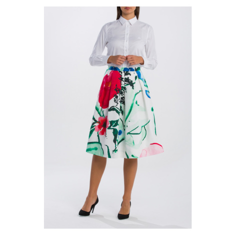 SUKNĚ GANT O2. PLEATED GARDEN PARTY SKIRT