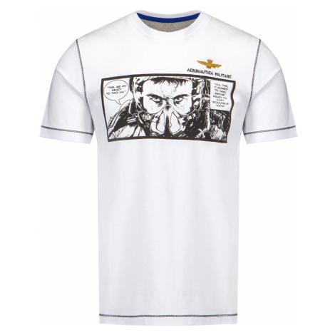 Tričko AERONAUTICA MILITARE bílá|vzorkování