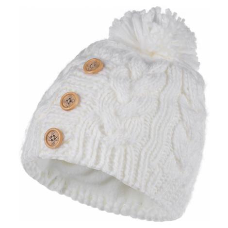 Dámská zimní čepice KILPI POMPOM-W bílá