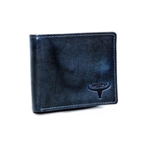 Pánská kožená peněženka Buffalo Wild Selfoss Navy II, modrá