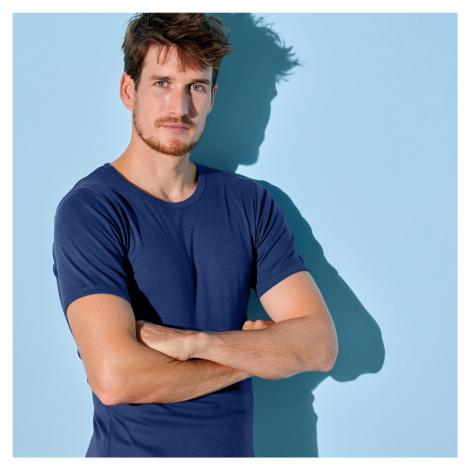 Blancheporte Spodní tričko s kulatým výstřihem, sada 3 ks námořnická modrá