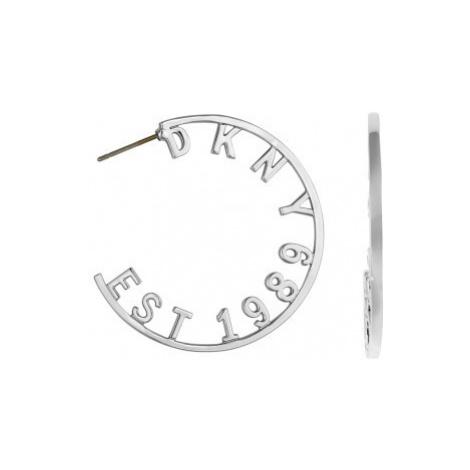DKNY Kruhové náušnice s logem New York