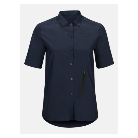 Košile Peak Performance Wtrailshss - Modrá